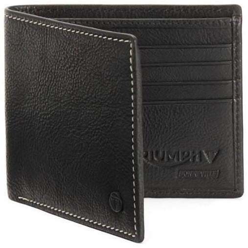 Triumph Black Leather Wallet