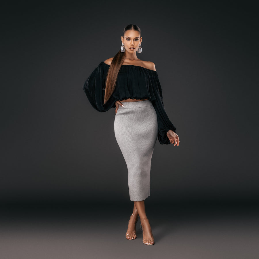 Lynette Knit Skirt | Comes in 2 colors
