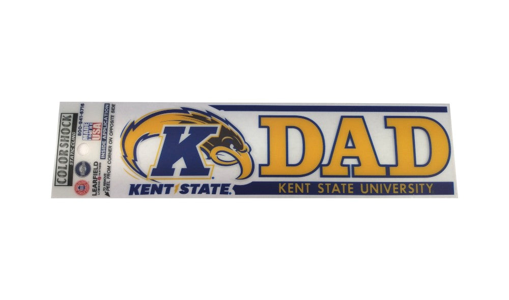Kent State University Golden Flashes dad cling