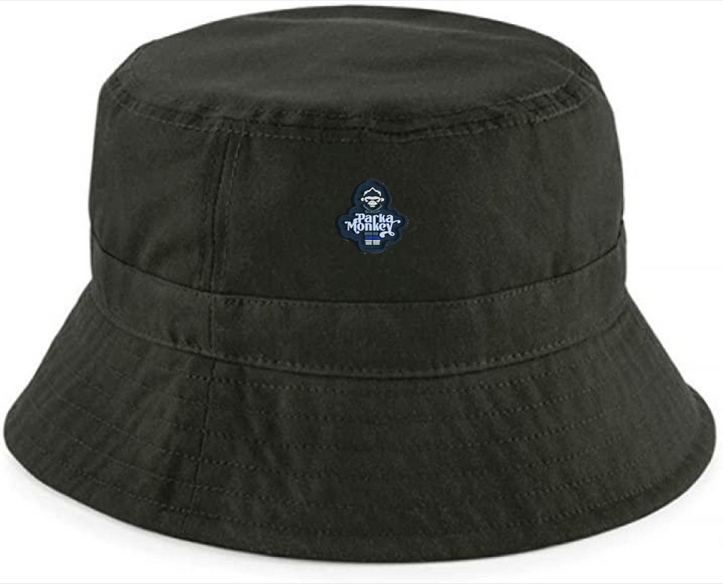 Olive Green Wax Quilted Bucket Hat - Parka Monkey