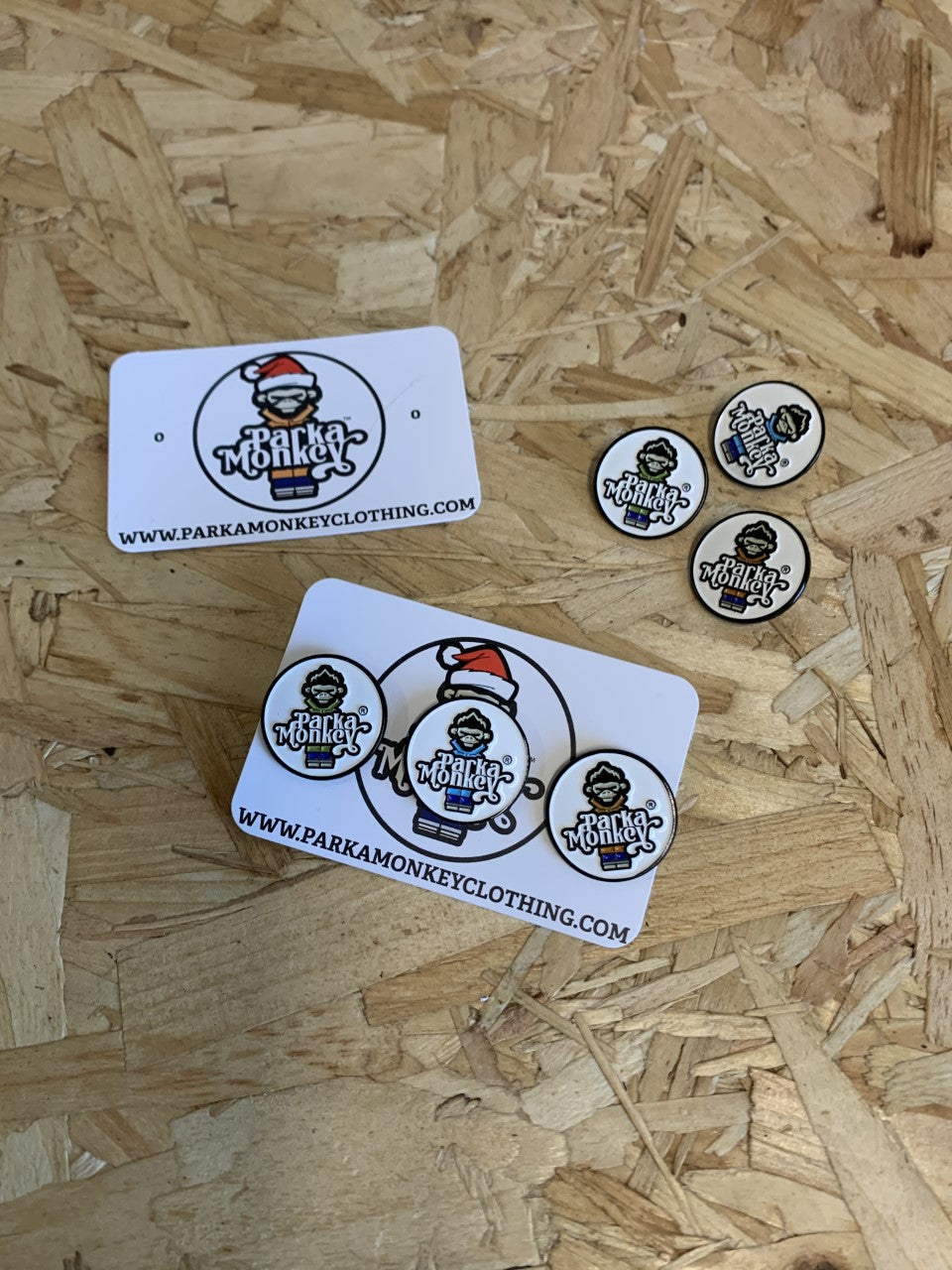 Set of 3 Collectable Parka Monkey Pin Badges - Parka Monkey