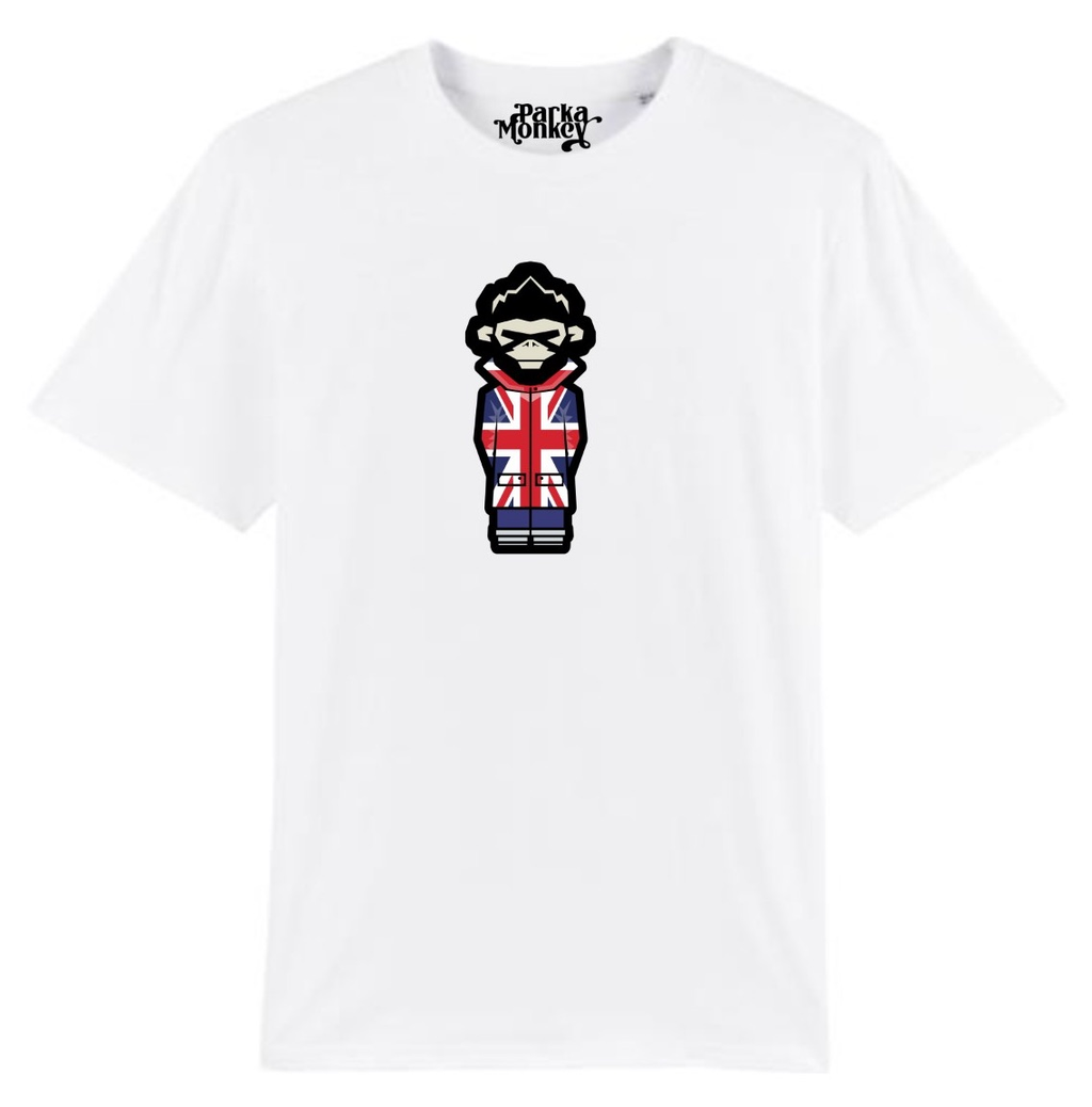 Burnage Tee Union Jack White - Parka Monkey