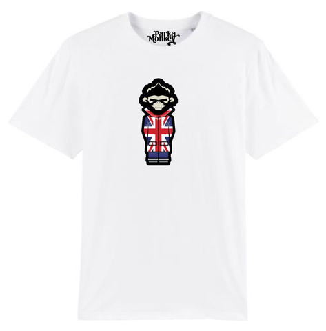 Burnage Tee Union Jack (White) - Parka Monkey