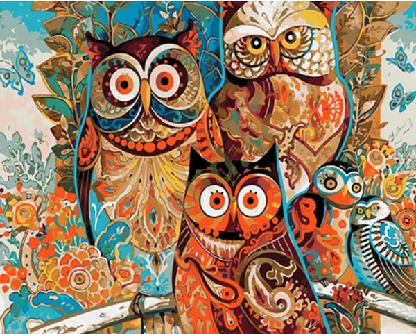 Abstract Owls - World Paint by Numbers™ Kits DIY