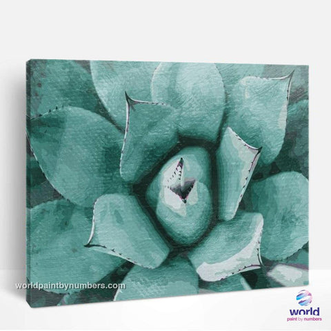 Agave - Leaf Collection - World Paint by Numbers™ Kits DIY