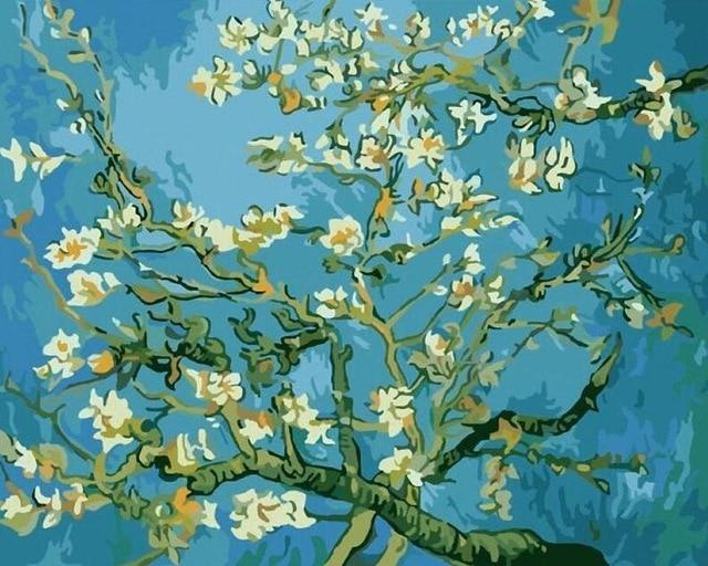 Almond Blossoms by Vicent Van Gogh - World Paint by Numbers™ Kits DIY