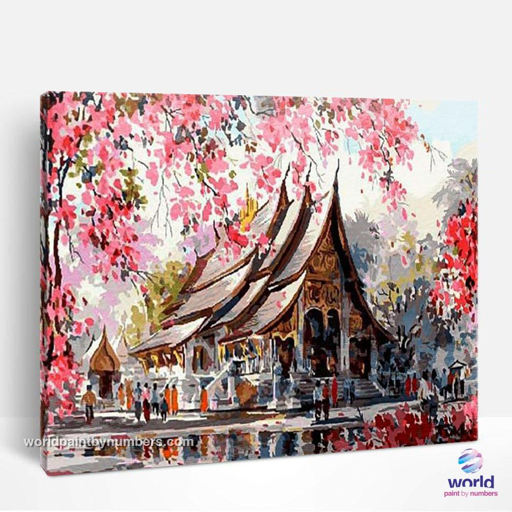 Asian Temple - World Paint by Numbers™ Kits DIY