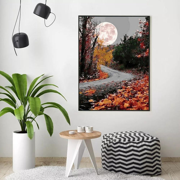 Autumn Moon - World Paint by Numbers™ Kits DIY