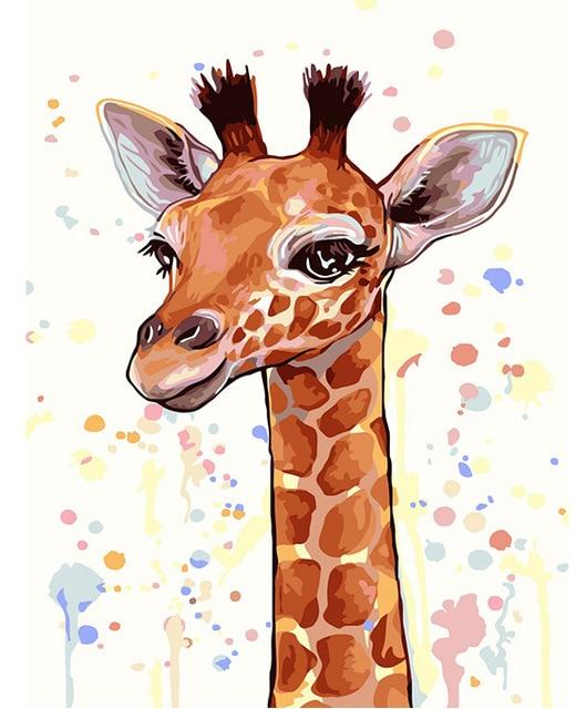 Baby Giraffe - World Paint by Numbers Kits DIY