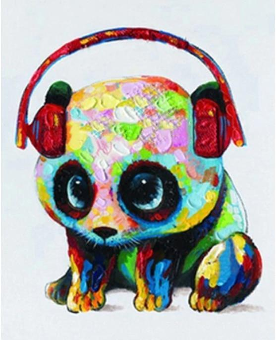 Baby Music Panda - World Paint by Numbers™ Kits DIY