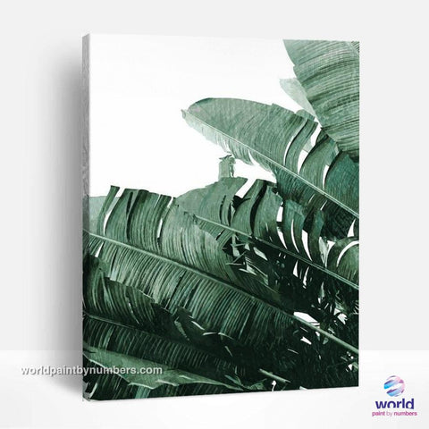 Banana Tree - Leaf Collection - World Paint by Numbers™ Kits DIY