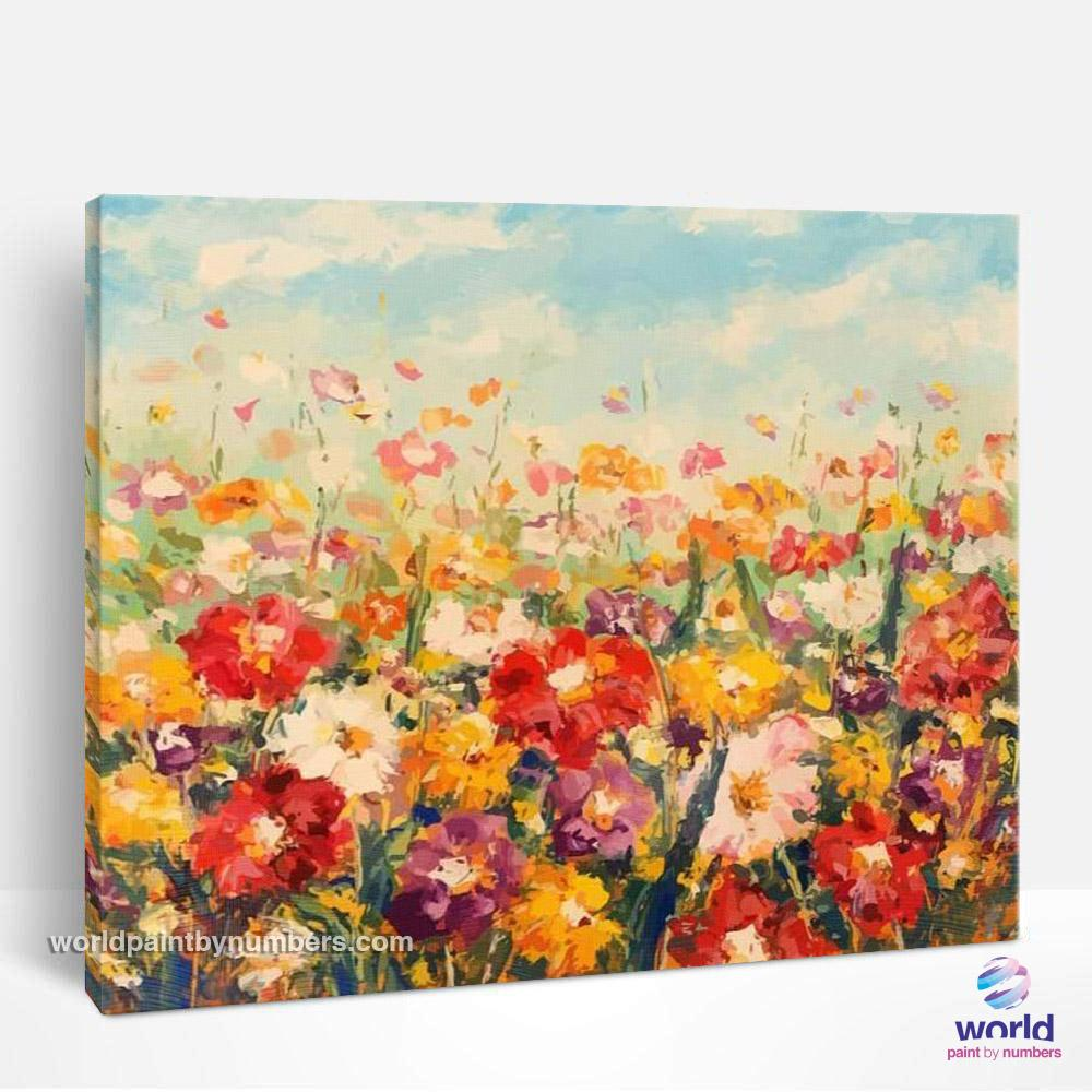 Beautiful Flower Garden - World Paint by Numbers™ Kits DIY