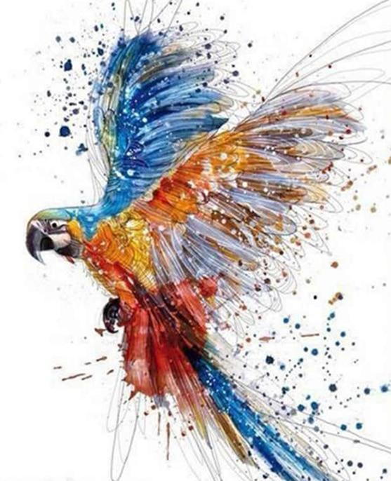 Beautiful Flying Macaw - World Paint by Numbers™ Kits DIY