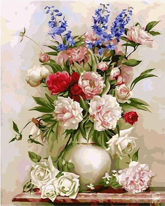 Beautiful Roses Pot - World Paint by Numbers™ Kits DIY