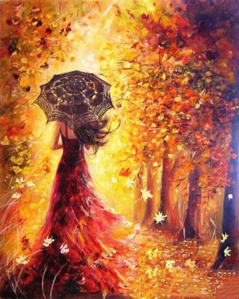 Beautiful Woman Autumn - World Paint by Numbers™ Kits DIY