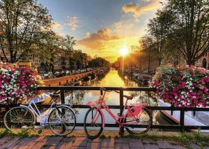 Bike Tour in Amsterdam - World Paint by Numbers™ Kits DIY