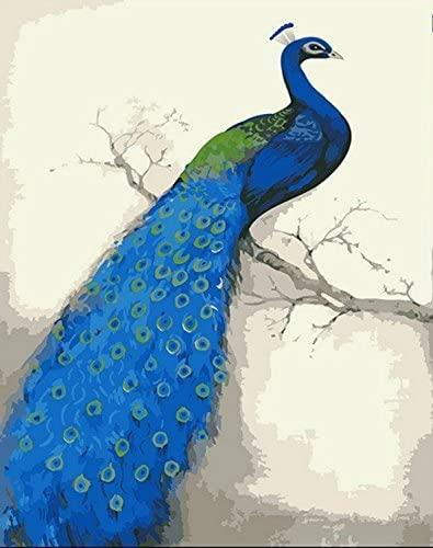 Blue Peacock - World Paint by Numbers™ Kits DIY