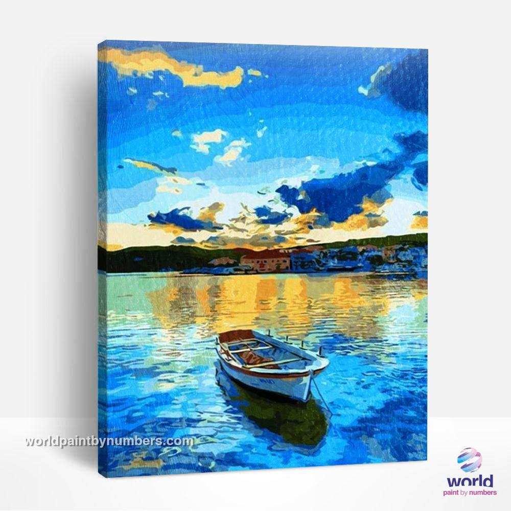 Blue Sky and Ocean - World Paint by Numbers™ Kits DIY