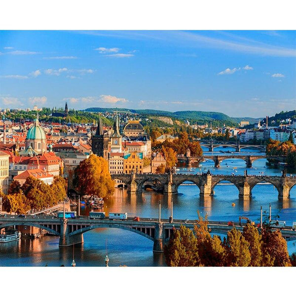 Bridges of Florence - World Paint by Numbers™ Kits DIY