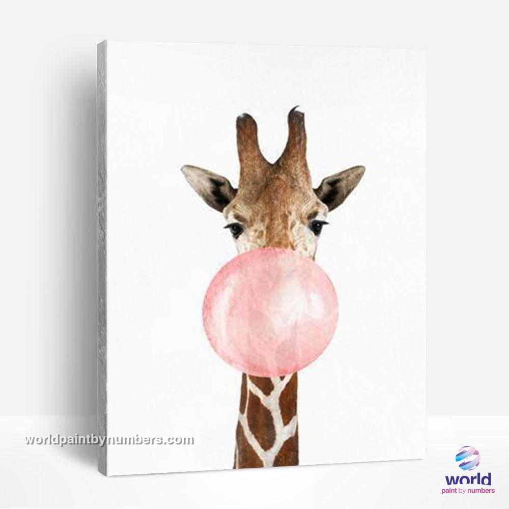 Bubble Giraffe - World Paint by Numbers™ Kits DIY
