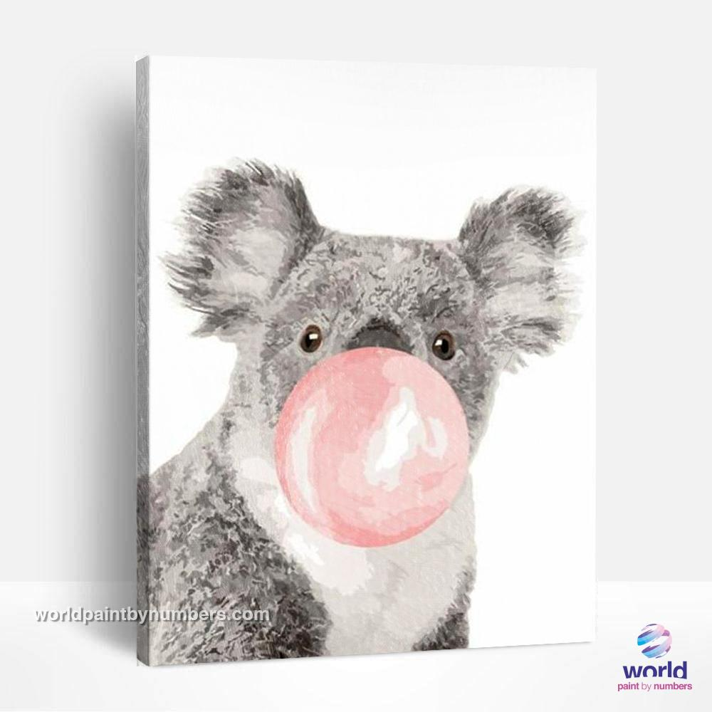 Bubble Gum Koala - World Paint by Numbers™ Kits DIY