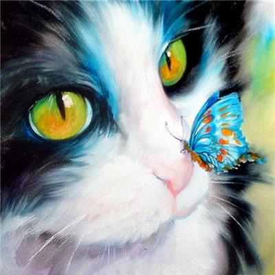 Butterfly & Cat - World Diamond Painting™ 5D DIY