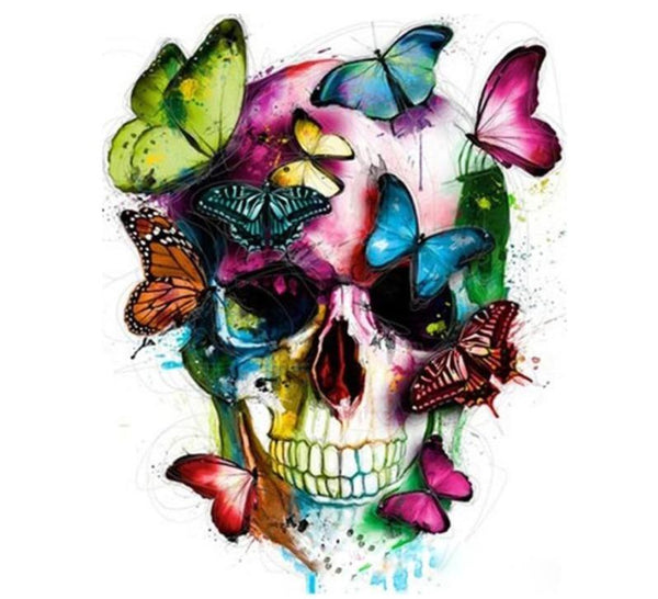 Butterfly Skull - World Paint by Numbers™ Kits DIY