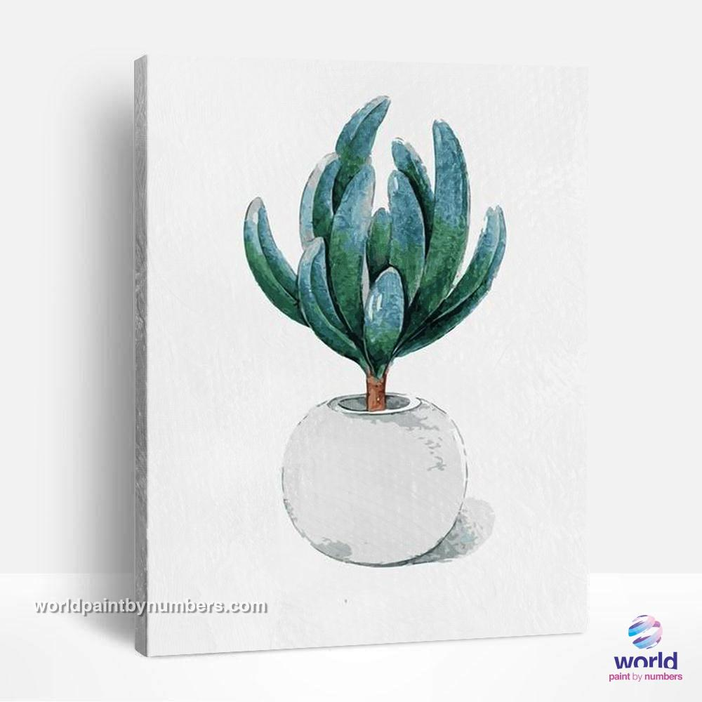 Cactus Tree - Leaf Collection - World Paint by Numbers™ Kits DIY