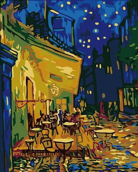 Café Terrace at Night by Vicent Van Gogh - World Paint by Numbers™ Kits DIY
