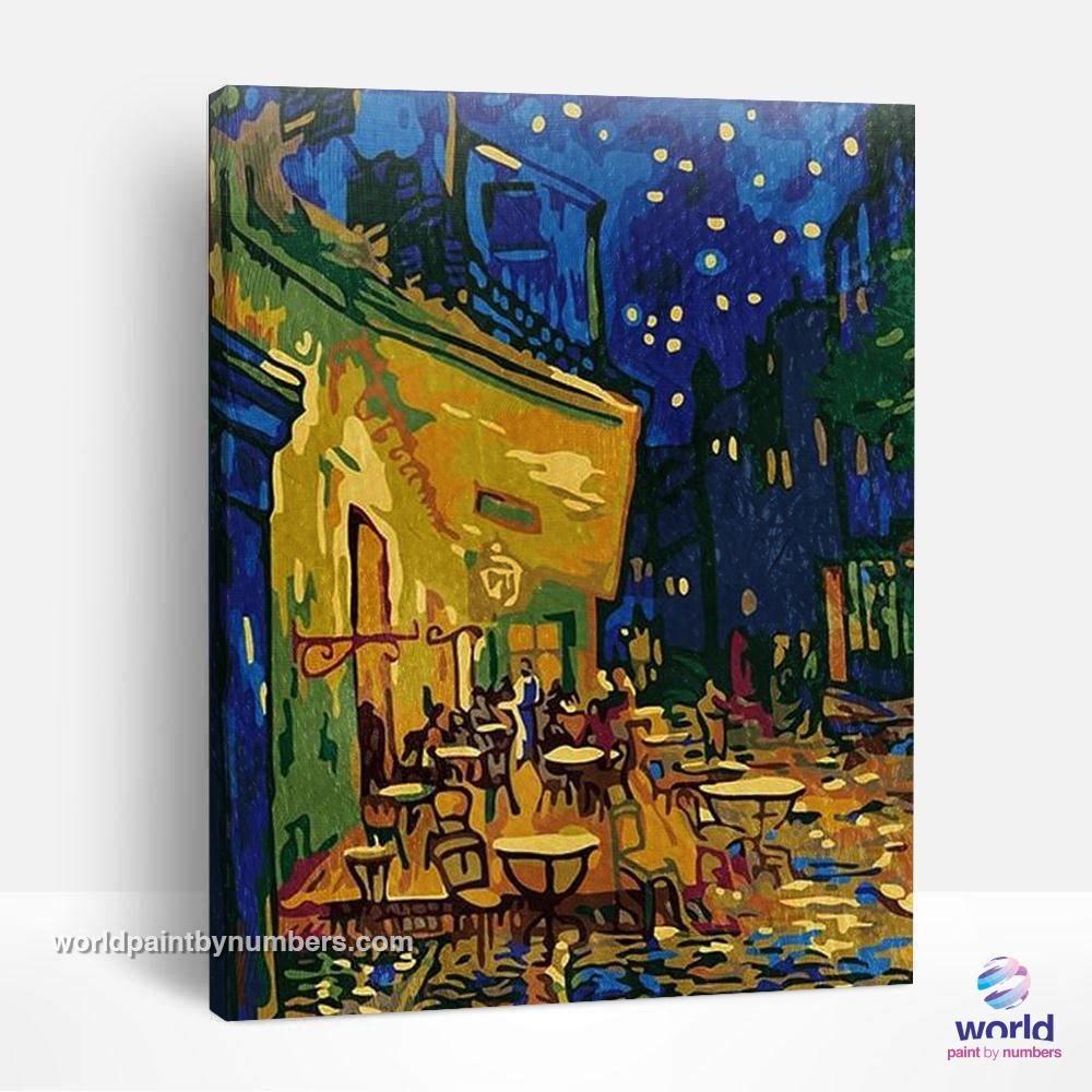 Café Terrace at Night by Vincent Van Gogh - World Paint by Numbers™ Kits DIY