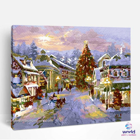 Christmas Village - World Paint by Numbers™ Kits DIY