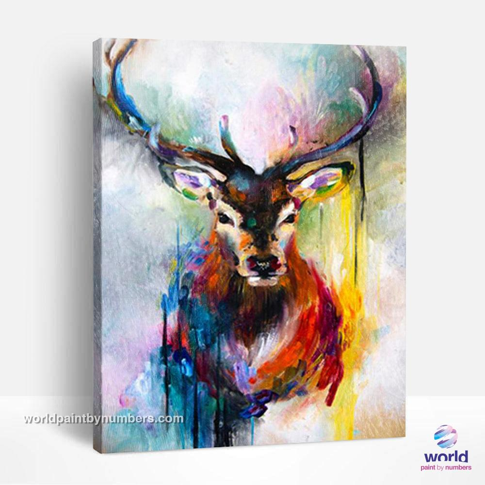 Color Melting Deer - World Paint by Numbers™ Kits DIY
