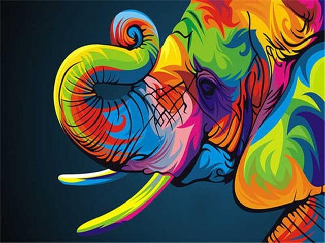Colorful Baby Elephant - World Paint by Numbers™ Kits DIY