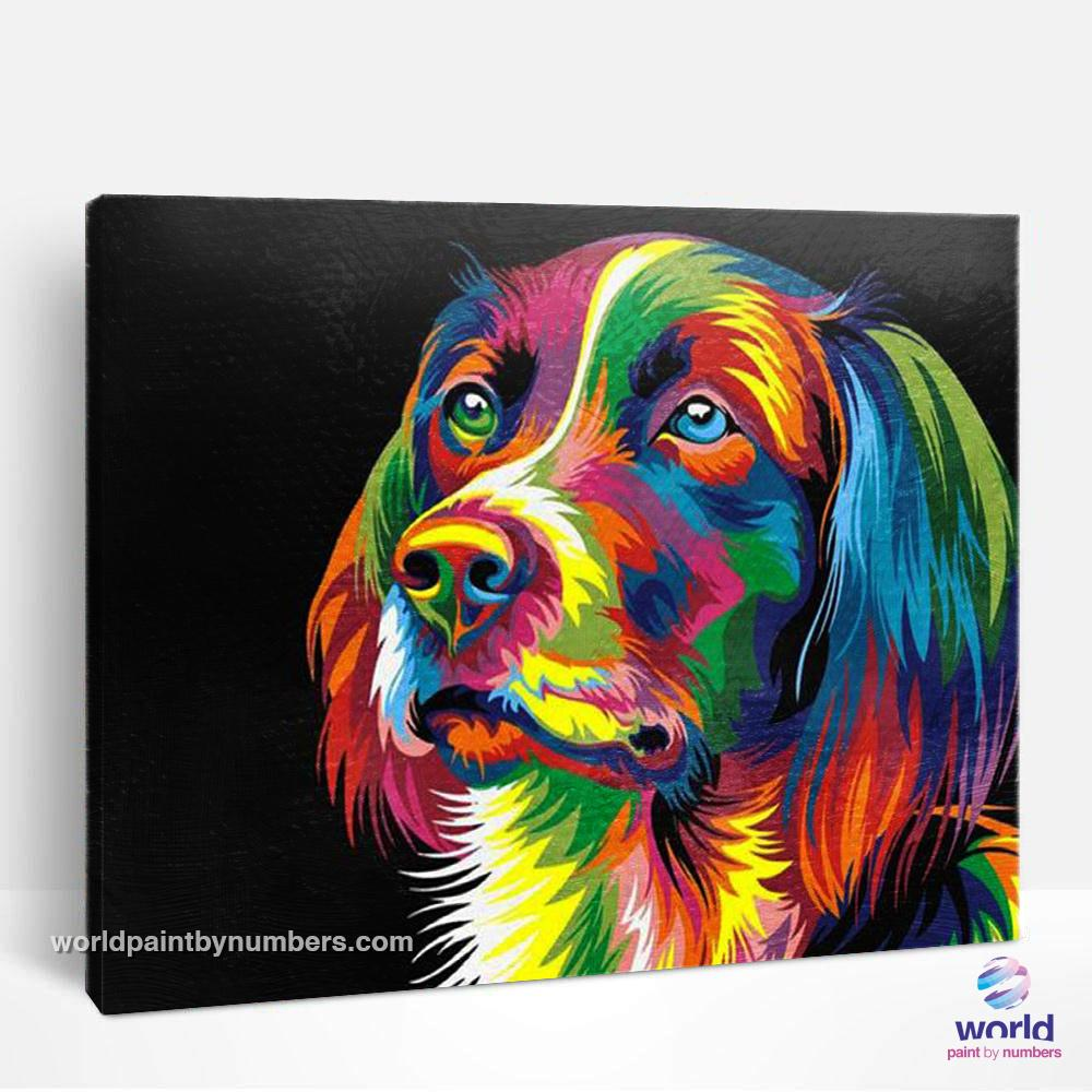 Colorful Dog - World Paint by Numbers™ Kits DIY