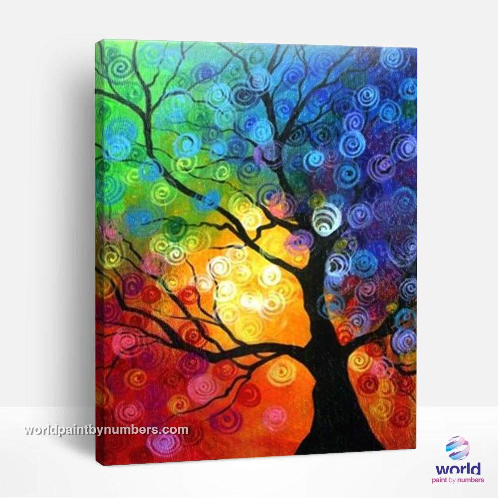 Colorful Tree - World Paint by Numbers™ Kits DIY