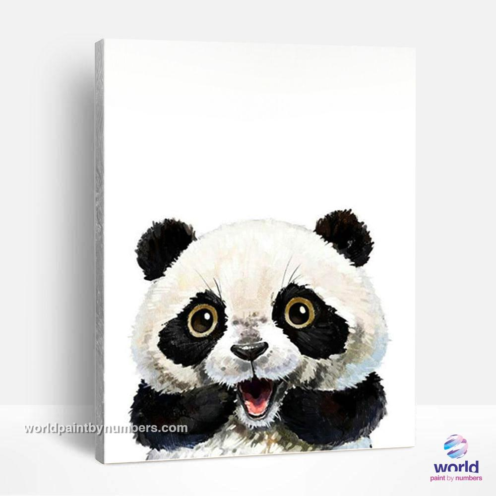 Cute Panda - World Paint by Numbers™ Kits DIY
