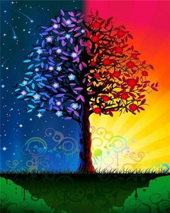 Day and Night Tree - World Paint by Numbers™ Kits DIY