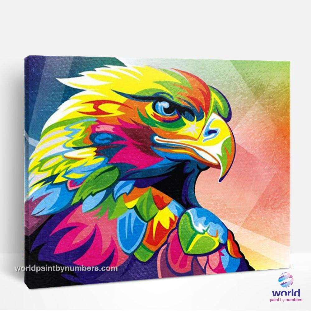 Extra Colorful Eagle - World Paint by Numbers™ Kits DIY