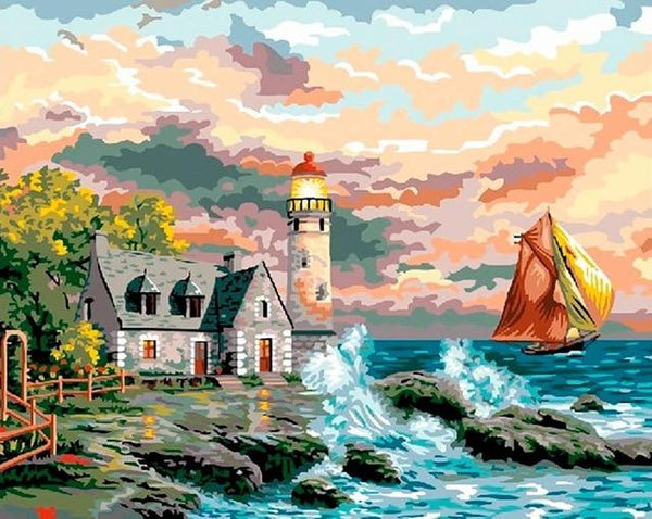 Fisherman's House - World Paint by Numbers™ Kits DIY