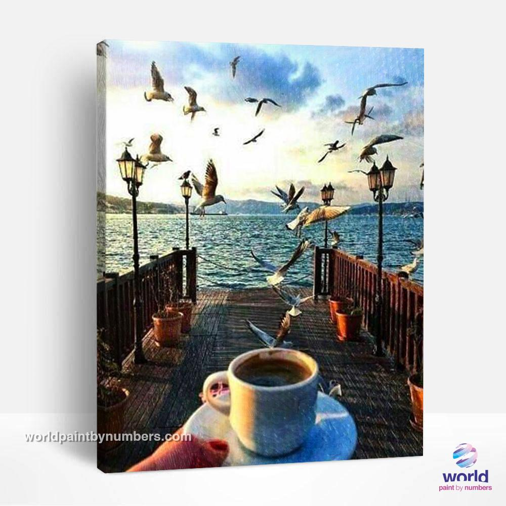 Fishing Pier - World Paint by Numbers™ Kits DIY