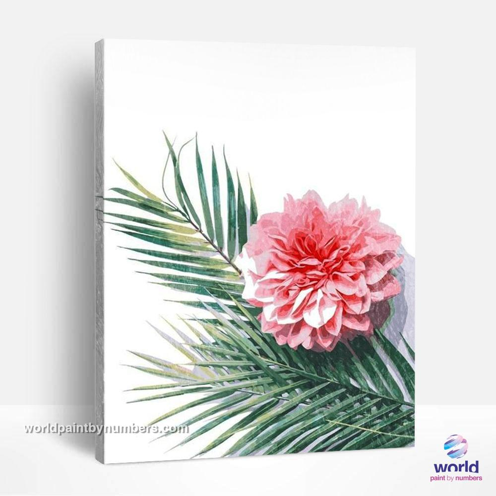 Flower & Palm - Leaf Collection - World Paint by Numbers™ Kits DIY