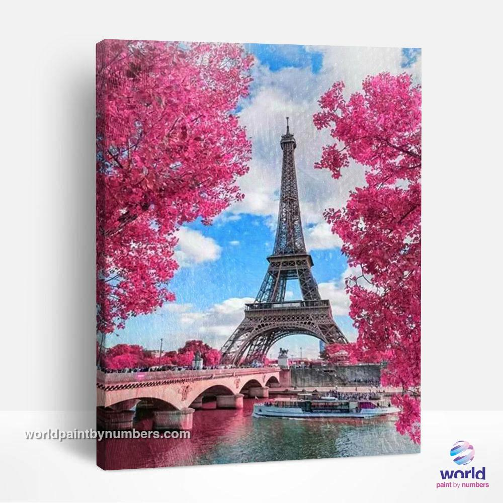 Flowery Paris - World Paint by Numbers™ Kits DIY