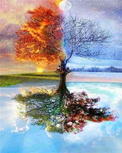 Four Seasons Realistic Tree - World Paint by Numbers™ Kits DIY