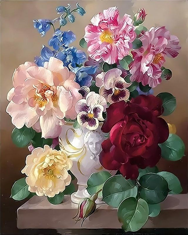 Grandma´s Flowers - World Paint by Numbers™ Kits DIY