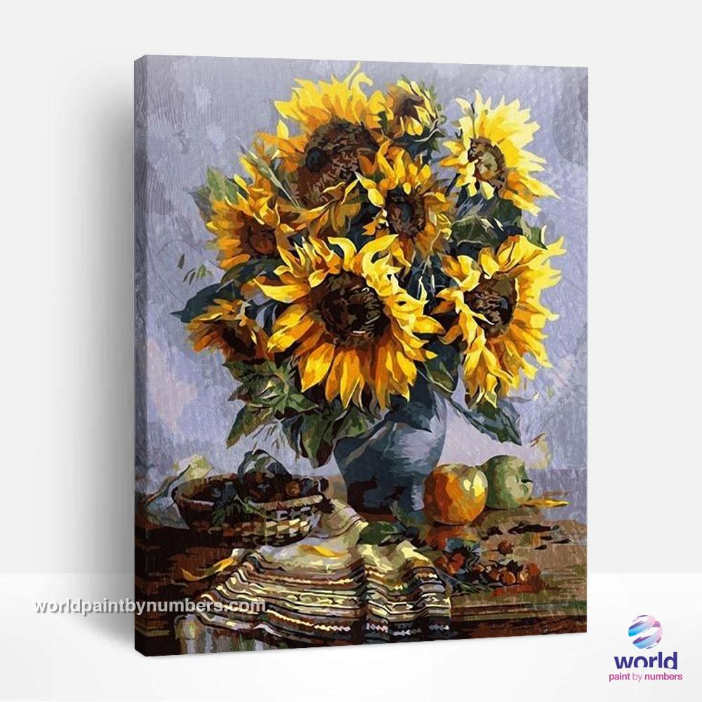 Grandma´s Sunflowers - World Paint by Numbers™ Kits DIY