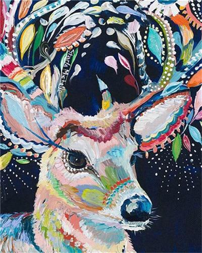Hipster Deer - World Paint by Numbers™ Kits DIY