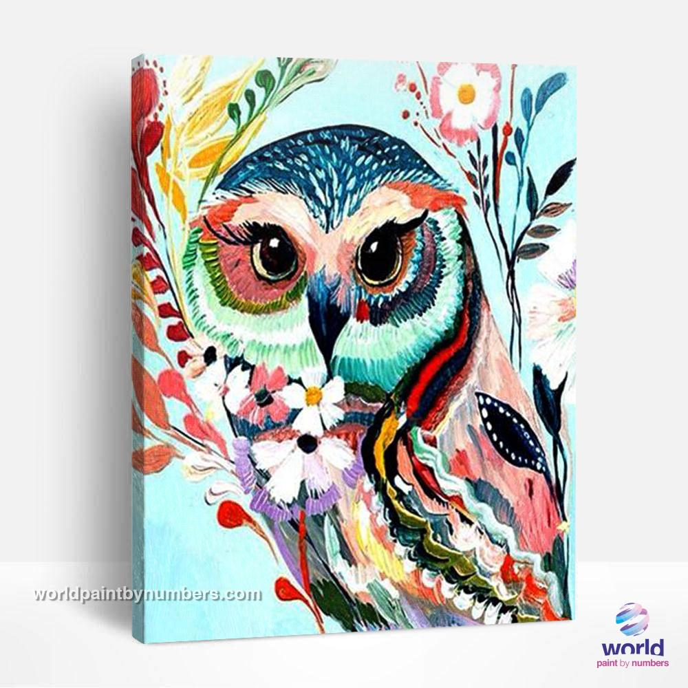 Hipster Owl - World Paint by Numbers™ Kits DIY
