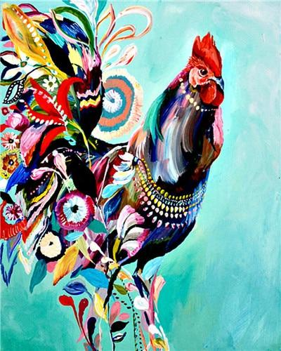 Hipster Rooster - World Paint by Numbers™ Kits DIY