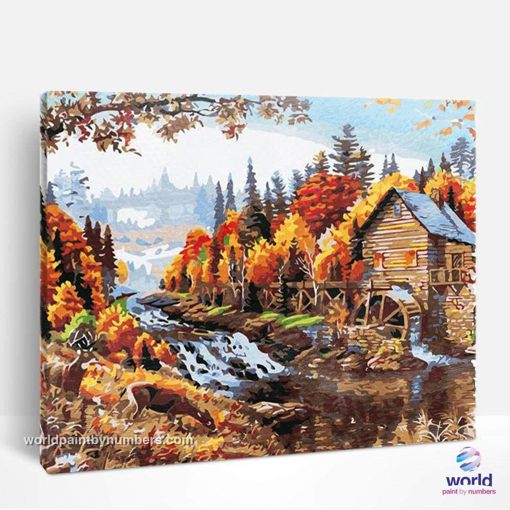 House in the Forest - World Paint by Numbers™ Kits DIY