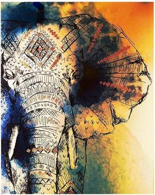 Indian Elephant - World Paint by Numbers™ Kits DIY